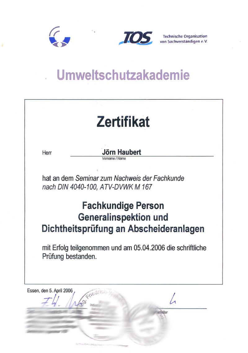 Bild Fachkunde-Zertifikat-Abscheideranlagen